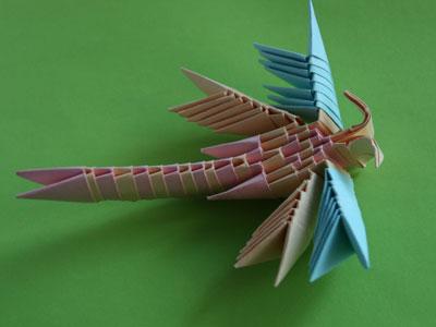 Оригами-стрекоза