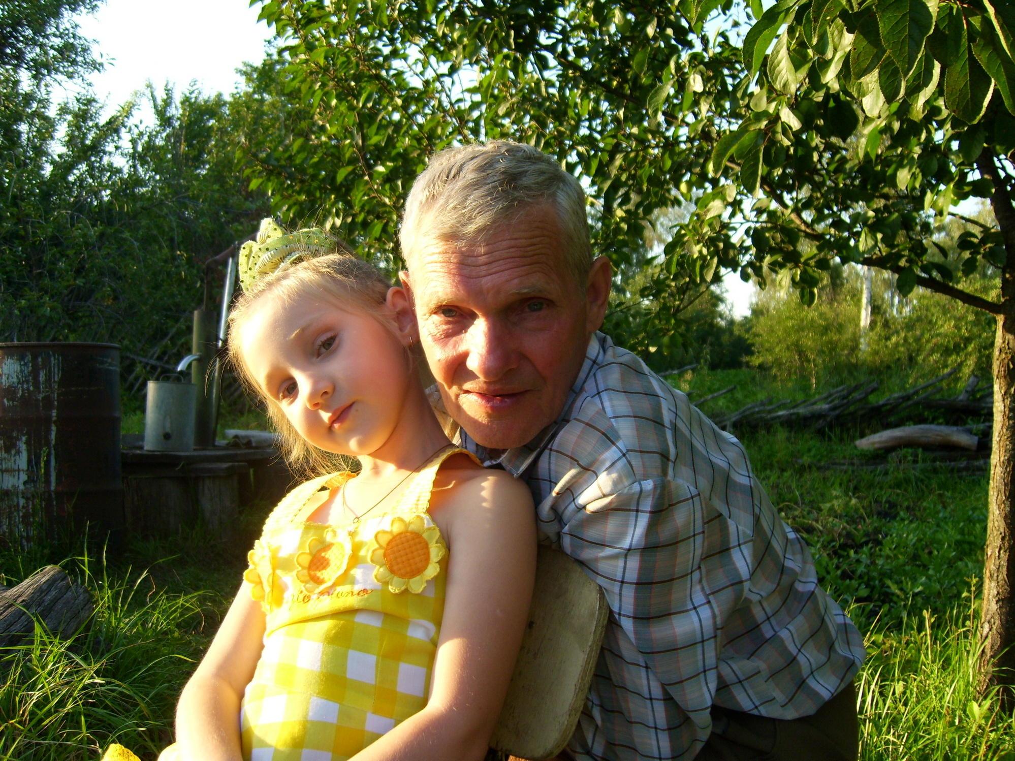 Я со своим любимым дедушкой