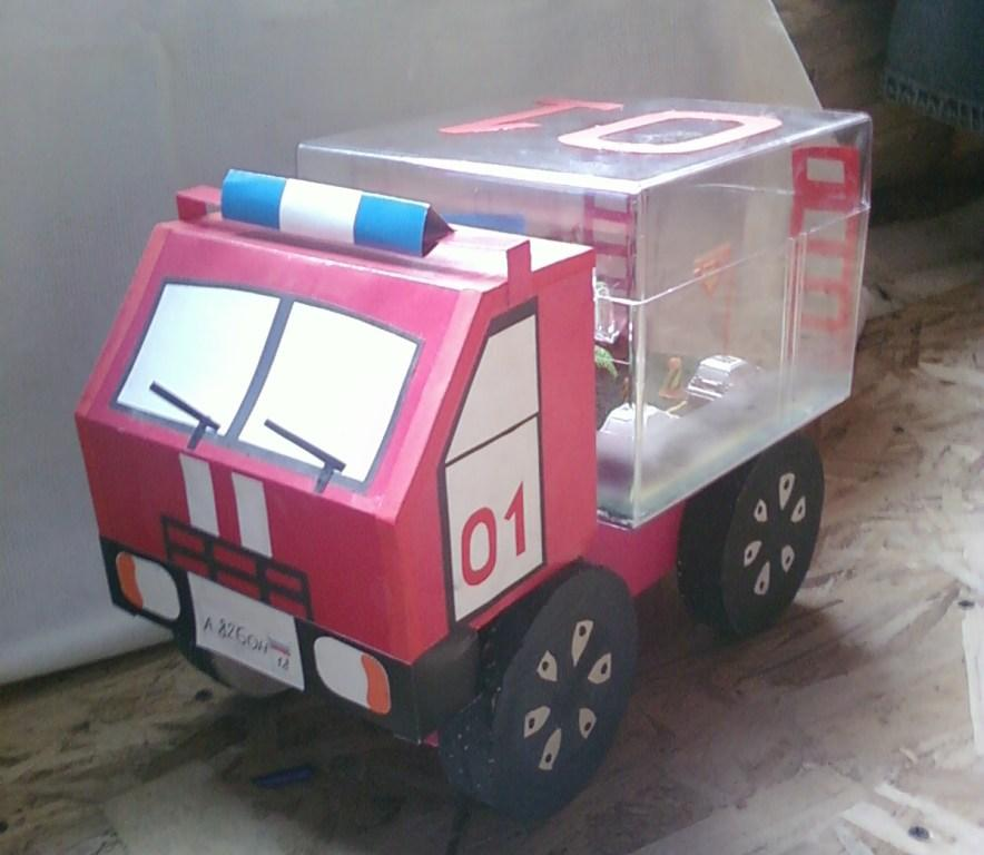 Пожарная машина сделать своими руками 511
