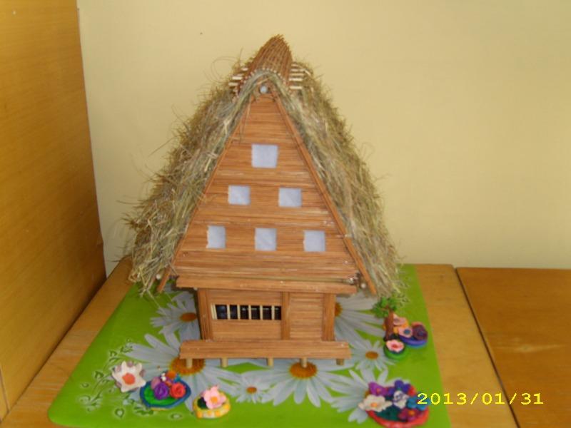 Модель японского дома минка.